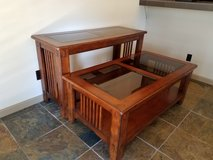 Mission Wood coffee table, sofa table in Temecula, California