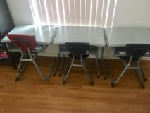 4 school desks and chairs in Pearl Harbor, Hawaii