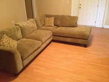 Sectional sofa, like new, w/free ottoman & chair in Perry, Georgia