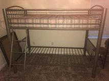Metal frame twin size bunk bed in Savannah, Georgia
