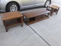 ****SOLID WOOD COFFEE TABLE & 2 END TABLES *** in Kingwood, Texas