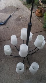 Tall Hanging light fixtures rubbed oil white glass lights bar lights chandeliers like new! in Kingwood, Texas