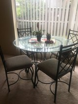 Glass Top Table & Chairs in Kingwood, Texas