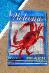"""NEW """"WELCOME TO THE BEACH"""" GARDEN FLAG in Perry, Georgia"""