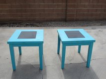 2 end tables with black glass in Alamogordo, New Mexico