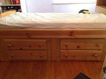 Twin bed with dresser in Lawton, Oklahoma