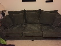 Large green couch chair and ottoman. Must be able to pick up. in Quantico, Virginia