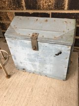 Weathered blue box - in Naperville, Illinois