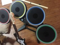 PS4 Rock Band 4 Drums and Guitar (Game also included) in Okinawa, Japan