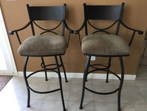 SET of 2 HEAVY Wrought Iron Bronze Bar Stools in Westmont, Illinois