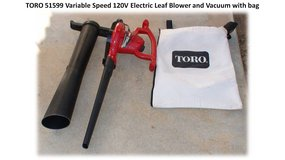 TORO 12Amps Electric Variable Speed Leaf Blower and Vacuum in San Diego, California