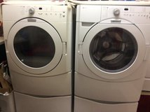 May tag Washer and Dryer on stands in Travis AFB, California