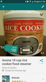 Aroma rice cooker and food steamer 10 cup in Fort Campbell, Kentucky