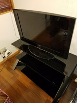 BLACK GLASS TV STAND in Okinawa, Japan