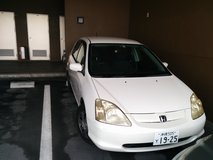 2001 White Honda Civic in Okinawa, Japan