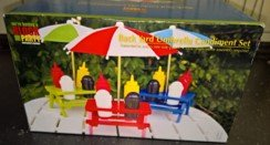 "BACK YARD UMBRELLA CONDIMENT SET 13.5"" HEIGHT in Ramstein, Germany"