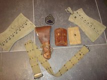 WWII U.S. Army .45 Caliber Pistol Belt Grouping in Grafenwoehr, GE