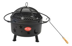 never used Luna Grill Fire Pit Charcoal Grill Fire Bowl in Ramstein, Germany