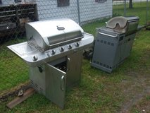 2 stainless steel grills for parts in Camp Lejeune, North Carolina