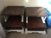 2 side tables solid wood in Kingwood, Texas