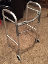 Two-button folding mobility walker with wheels (Guardian G30757W) in Glendale Heights, Illinois