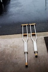 PAIR OF ALUMINUM CRUTCHES in Oswego, Illinois