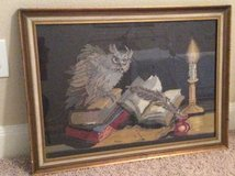 Owl needlepoint - Framed in Baytown, Texas