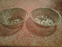 Vintage Silver Plated Woven Baskets in Eglin AFB, Florida