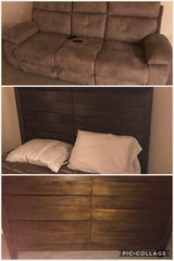 Ashley, LIKE NEW, Queen Bed, w/mattress & box spring, matching dresser and reclining sofa in Jacksonville, Florida