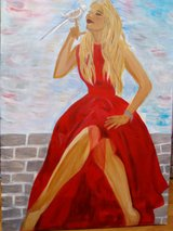the woman in red -Acrylic in Grafenwoehr, GE
