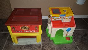 Antique Fisher Price houses in Travis AFB, California