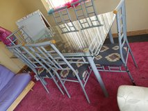 large glass 6able wirh 6 chairs in Lakenheath, UK