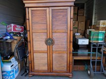 """""""Cindy Crawford Home"""" Armoire, High Quality, Solid Real Wood, Tall Large & Luxurious, Antique Wo... in Fort Lewis, Washington"""