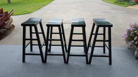4 Bar Stools Wood in Fort Campbell, Kentucky