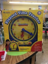 Elapsed Time Teacher Clock-New in box in Naperville, Illinois