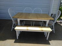 Farmhouse Style Table w/ 4 Chairs/Bench in Fort Campbell, Kentucky