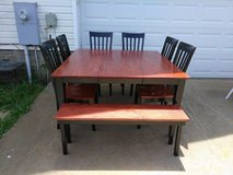 Large Table w/ 6 Chairs/Bench in Fort Campbell, Kentucky