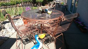 wrought iron patio dining set in Travis AFB, California