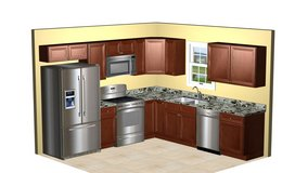 10' x 10 Kitchen all wood cabinets assembled and delivered in Camp Lejeune, North Carolina