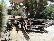 firewood in Storey Park (South Yucca Valley) in 29 Palms, California