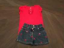 Red Apple Outfit size 5 Gymboree in Aurora, Illinois