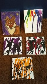 Hand painted mini canvases in Bellaire, Texas