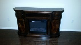 """60"""" Cherry Finish Electric Fireplace in Jacksonville, Florida"""