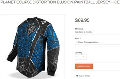 PLANET ECLIPSE DISTORTION ELUSION PAINTBALL JERSEY - ICE 2XL in Travis AFB, California