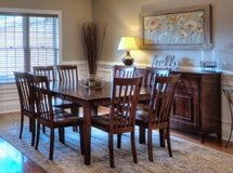 Dining Table (w/ 8 chairs) AND Buffet!!! in Fort Lewis, Washington