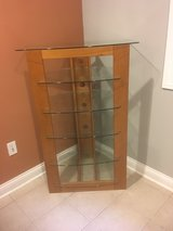 wood and glass corner rack in Algonquin, Illinois