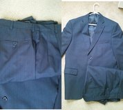 mens navy stripe suit Haggar in Naperville, Illinois