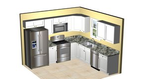 All wood Kitchen Cabinets for 10' X 10' kitchen as shown delivered $2830.+ NC sales tax in Camp Lejeune, North Carolina