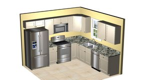 Kitchen Cabinets for 10' X 10' kitchen as shown including delivery $2030. + NC sales tax in Camp Lejeune, North Carolina