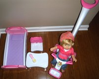 Sale Pending - Like New! Fisher Price Little Mommy Talk n Play Toddler Doll Set in Bolingbrook, Illinois